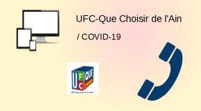 COVID-19, UFC-Que Choisir de l'Ain toujours à la tâche