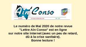 Lettre Ain Conso Mai 2020 en ligne !