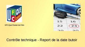 Contrôle technique – Report de la date butoir