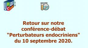 Retour sur notre conférence-débat «Perturbateurs endocriniens» du 10 septembre 2020