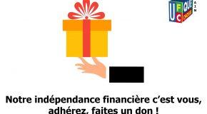 Notre indépendance financière c'est vous, adhérez, faites un don !